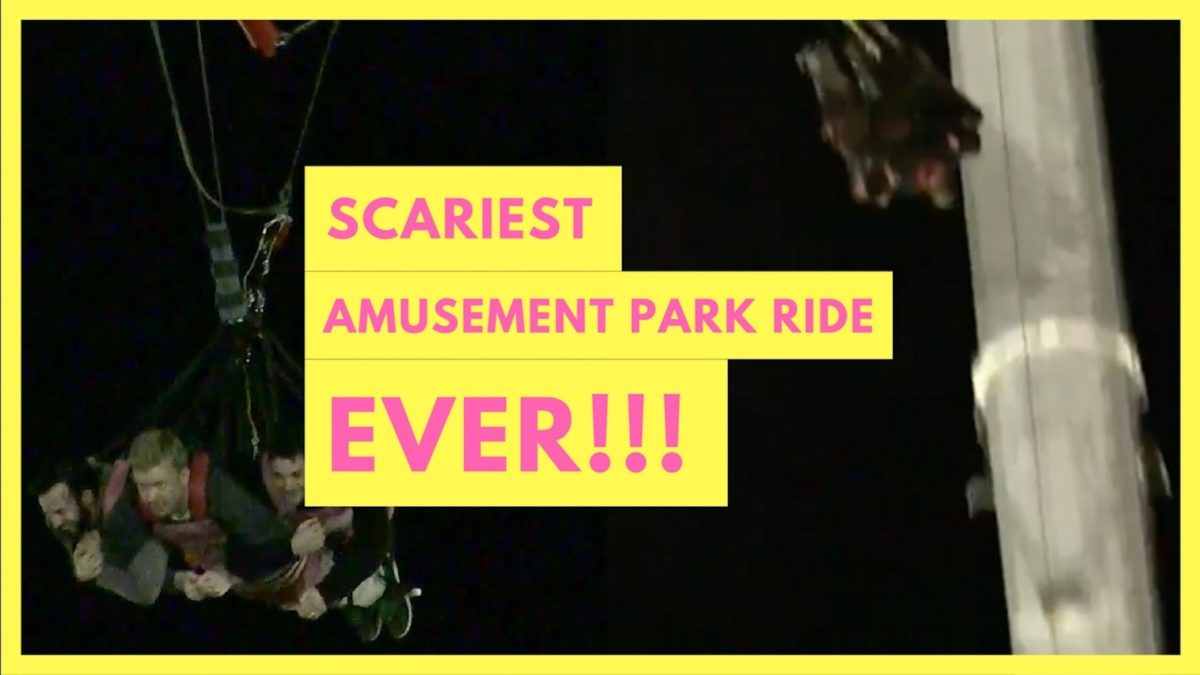 Scariest Amusement Park Ride Ever! The World's Tallest Skycoaster!